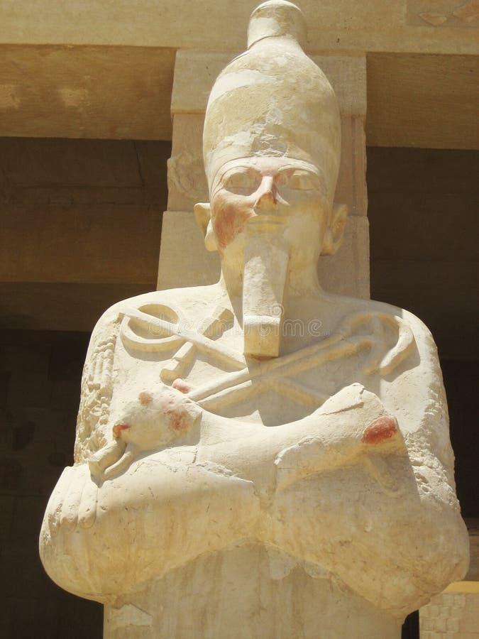 Escultura faraónica, Marsa Alam imagen de archivo