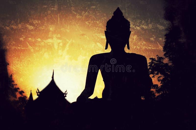 Escultura grande de buddha imagem de stock royalty free