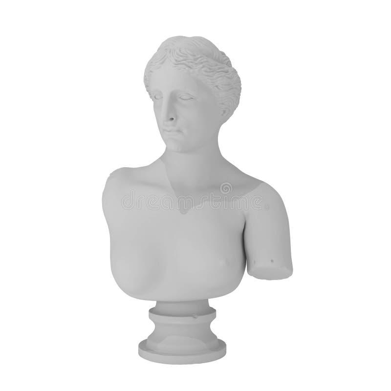 Escultura griega aislada en blanco ilustración del vector