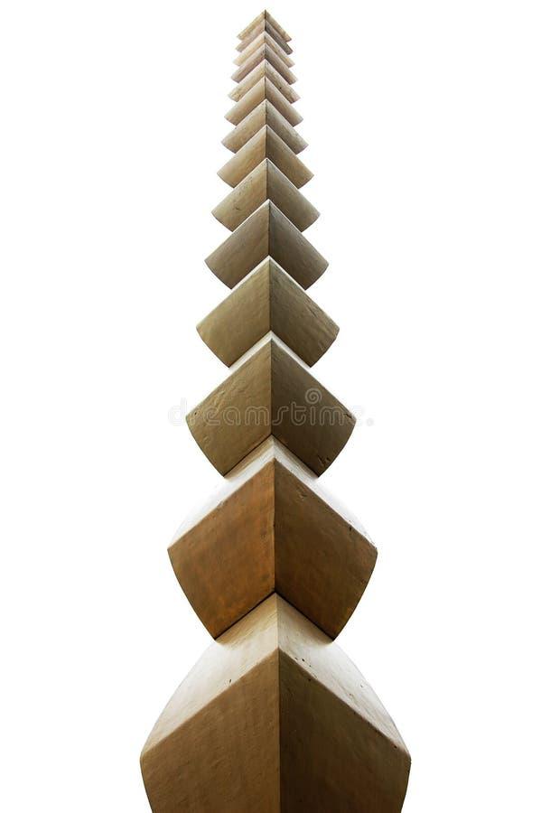 A escultura infinita da coluna fotos de stock