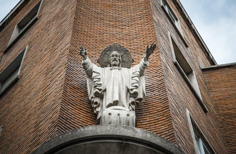 Escultura Jesus em um assoalho fotos de stock