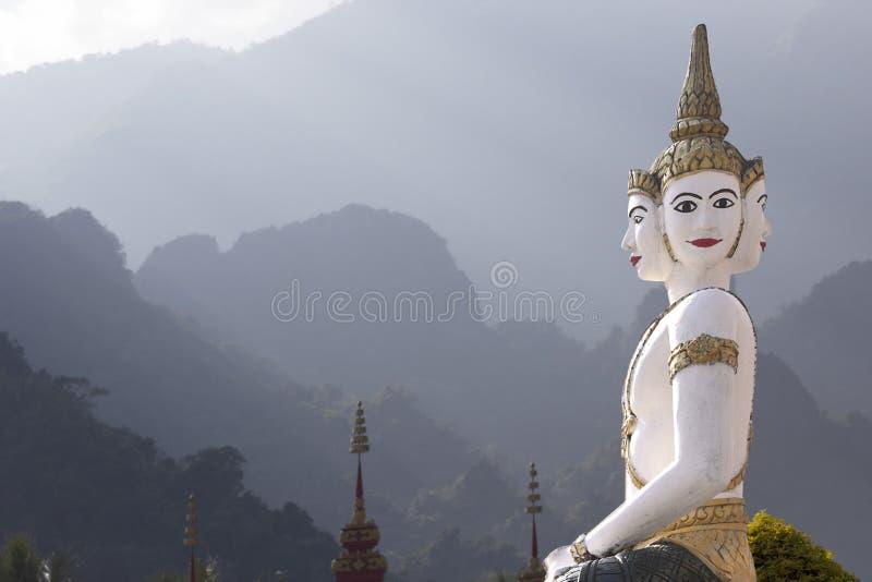 Escultura Laos do templo foto de stock royalty free