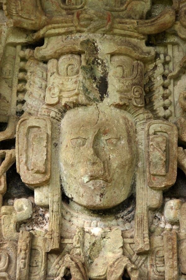 Escultura maia antiga imagens de stock royalty free