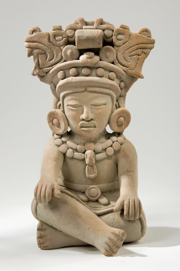 Escultura maia da argila imagem de stock