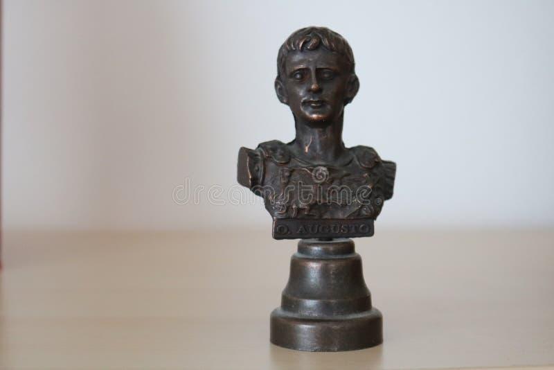 Escultura modelo do busto do busto de Augustus fotografia de stock
