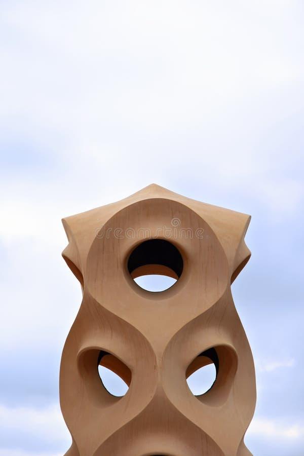 Escultura moderna foto de stock