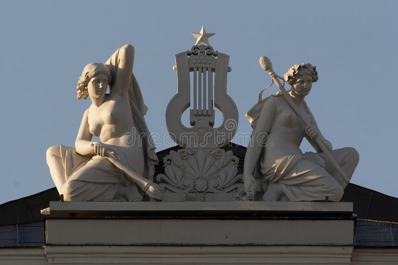 Escultura, musa fotos de stock royalty free
