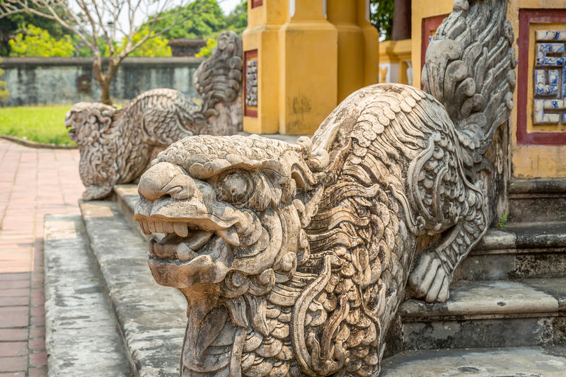 Escultura na cidade imperial da matiz imagens de stock