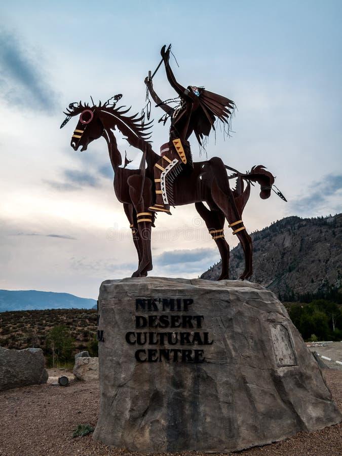Escultura nativa foto de stock