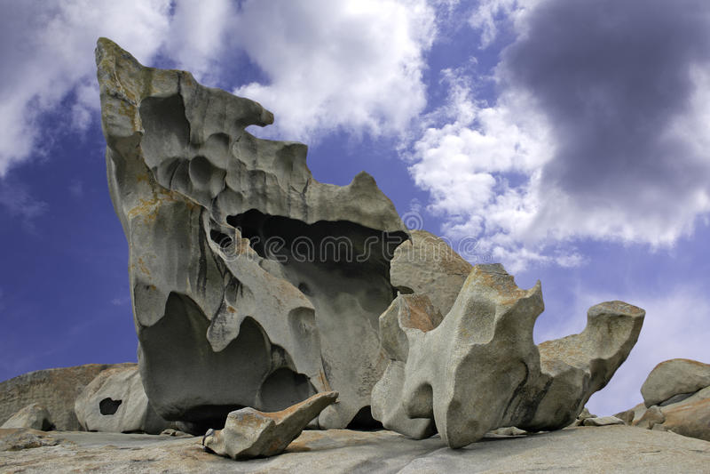 Escultura natural nas rochas notáveis em Kanga foto de stock royalty free