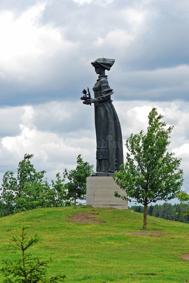 Escultura no parque de Grutas perto da cidade de Druskininkai foto de stock