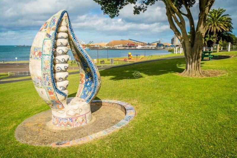 Escultura no parque de Portland em Victoria, Austrália imagens de stock