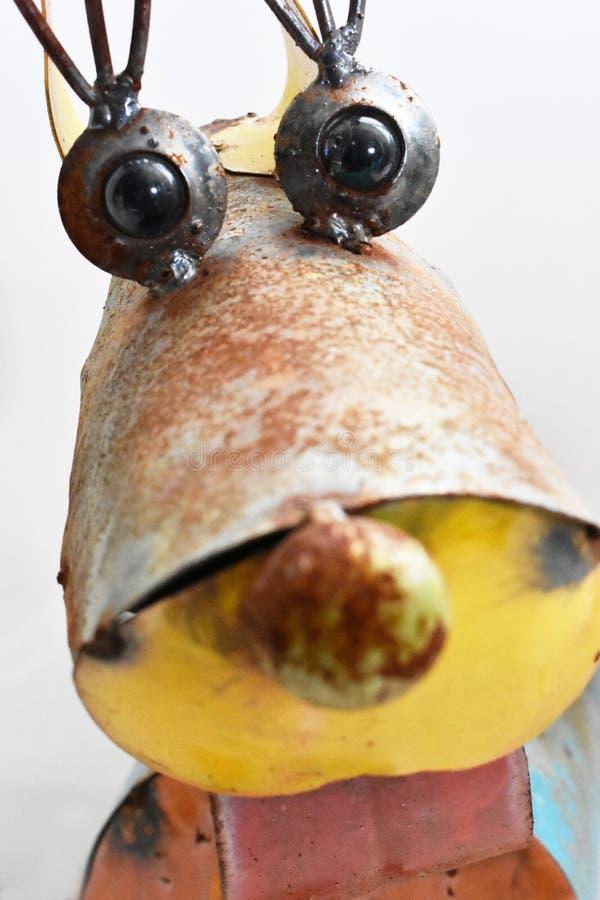 Escultura oxidada do cão fotos de stock