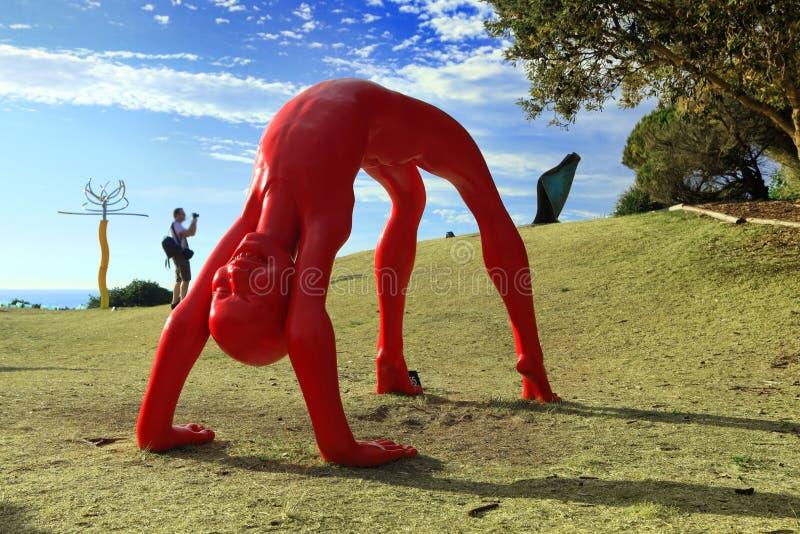 Escultura pela exibição Bondi Austrália do mar imagens de stock royalty free