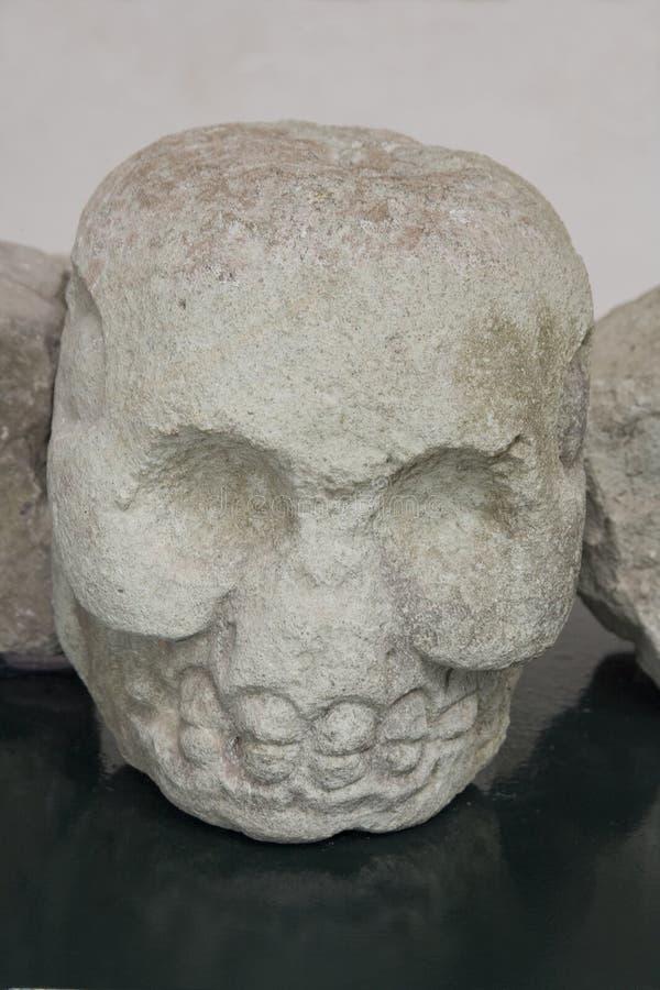 Escultura principal maia imagens de stock