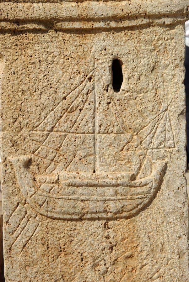 Escultura romana, Líbia imagem de stock royalty free