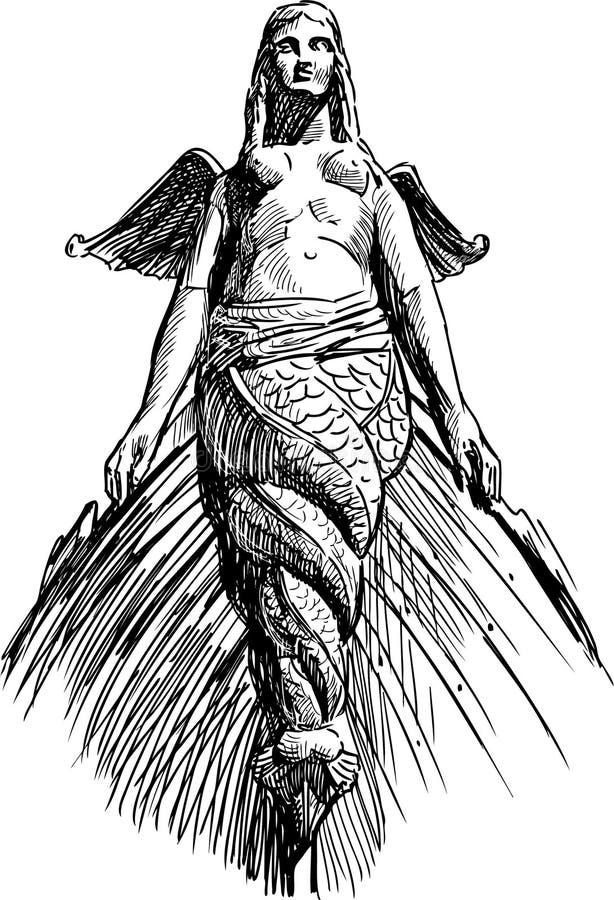Escultura Rostral ilustração royalty free