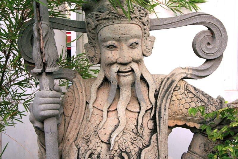 Escultura tailandesa - templo del pho de Wat - Bangkok fotografía de archivo