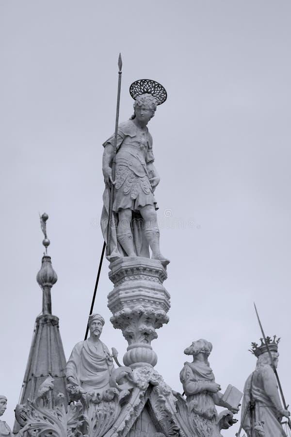 Escultura Venetian em Veneza, Itália, San Marco fotos de stock