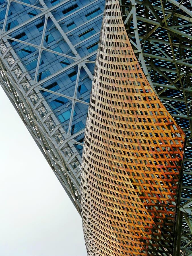 Escultura y textura en Barcelona imagen de archivo libre de regalías