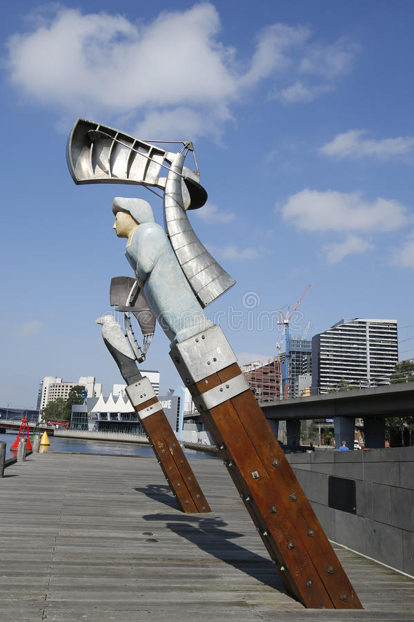 Esculturas da constelação por Bruce Armstrong e por Geoffrey Bartlet em Melbourne fotos de stock royalty free