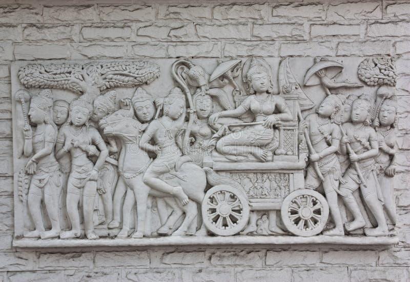 Esculturas da parede do Indonesian foto de stock royalty free