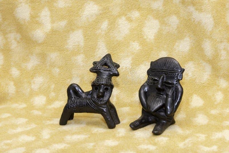 Esculturas de arcilla de Etiopía imagenes de archivo