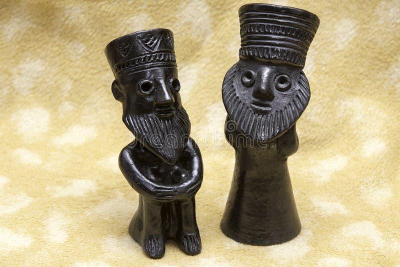 Esculturas de arcilla negras de los judíos de Etiopía fotos de archivo