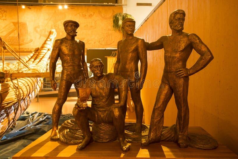 Esculturas de bronce en museo fotografía de archivo libre de regalías