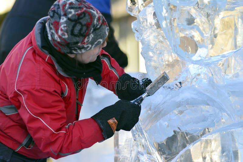 Esculturas de gelo de Ragnhild Brodow imagens de stock