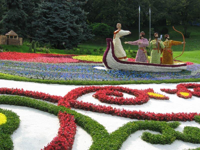 Esculturas de la flor fotografía de archivo libre de regalías