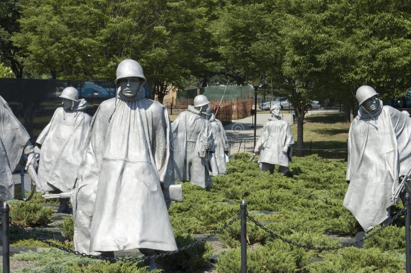 Esculturas del monumento de la Guerra de Corea foto de archivo libre de regalías