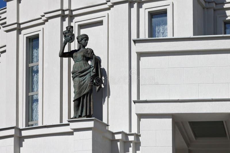 Esculturas del teatro académico nacional de la gran ópera y de ballet de la República de Belarús foto de archivo