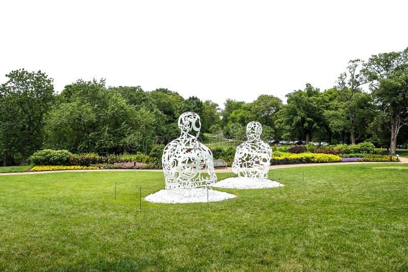 Esculturas do metal foto de stock royalty free