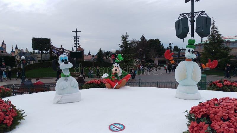 Esculturas do Natal de Disneylândia Paris imagem de stock