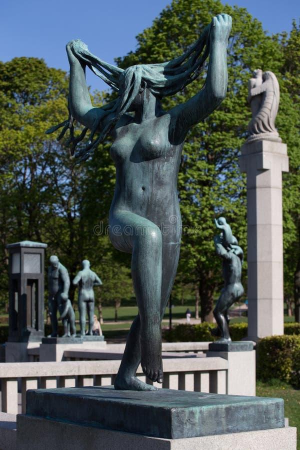 Esculturas do ` s de Gustav Vigeland no parque de Frogner foto de stock royalty free