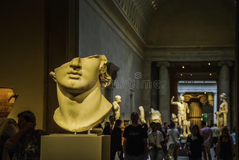 Esculturas en el museo de arte metropolitano, Nueva York imagen de archivo libre de regalías