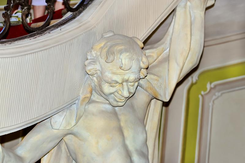Esculturas en el palacio de Branicki bialystok foto de archivo libre de regalías