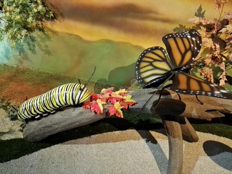Esculturas gigantes do inseto no parque Jaime Duque ilustração royalty free
