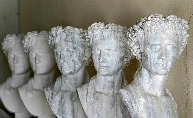 Esculturas gregas imagem de stock