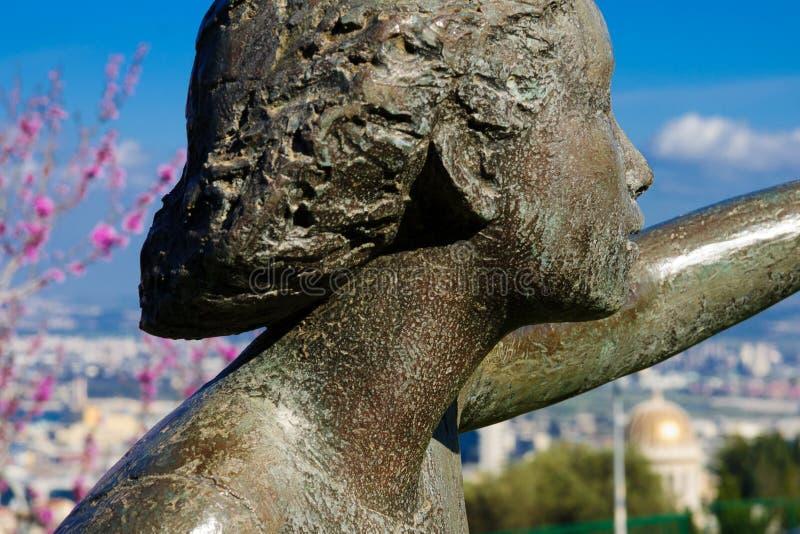 Esculturas jardim, Haifa imagem de stock royalty free