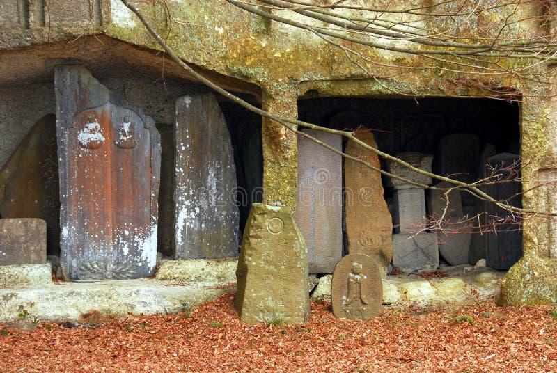 Esculturas na alcova da rocha fotografia de stock royalty free