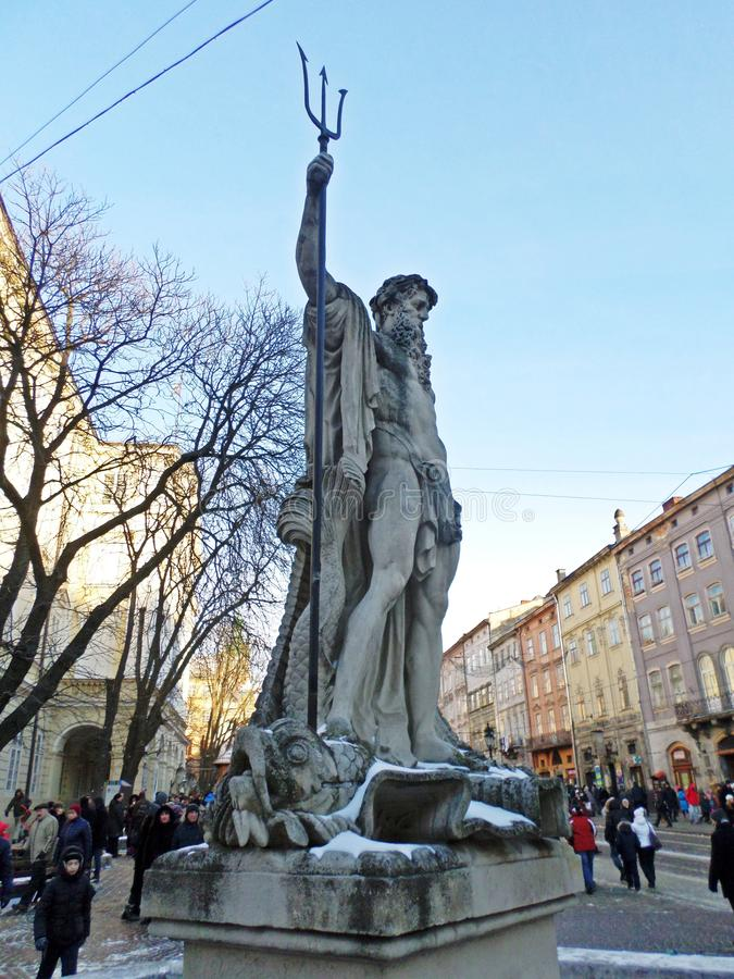 Esculturas na cidade imagem de stock royalty free