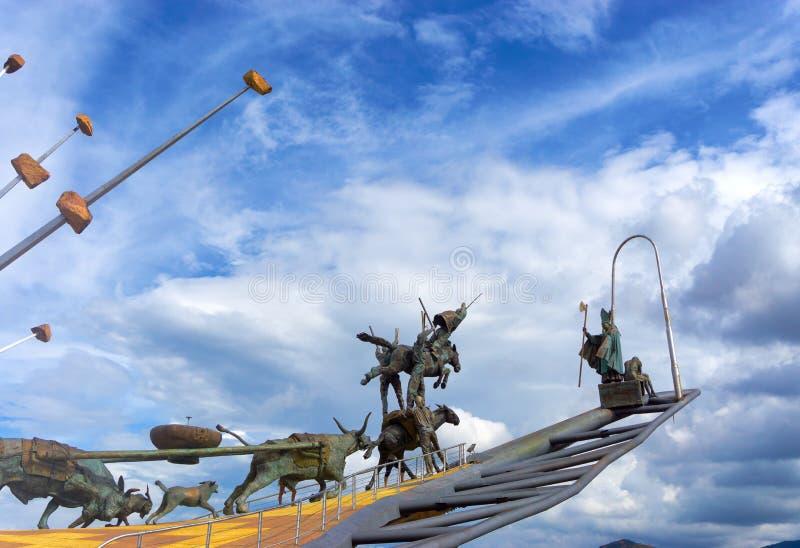 Esculturas na garganta de Chicamocha foto de stock