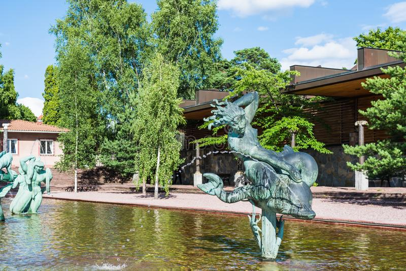 Esculturas no museu de Millesgarden em Éstocolmo, Suécia imagem de stock