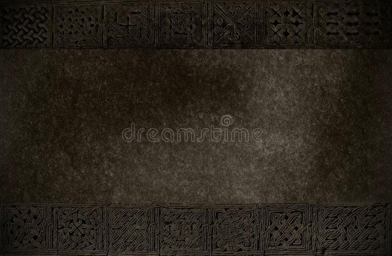 Escureça a textura com ornamento medievais fotos de stock