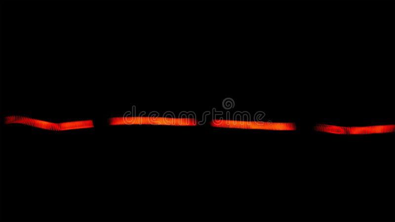 Escurecendo o close up bonde do macro da lâmpada do bulbo de halogênio fotos de stock
