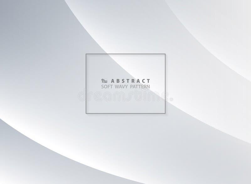 Escuro abstrato - fundo macio azul do projeto do teste padrão ondulado Você pode usar-se para o anúncio, cartaz, projeto moderno, ilustração stock