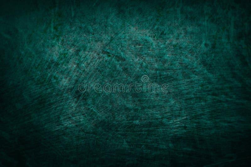 Escuro - azul verde fundo abstrato riscado da parede da textura não 5 imagem de stock
