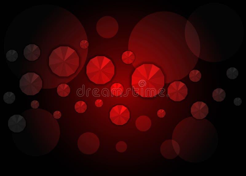 Escuro - baixo molde poli vermelho Uma ilustração brilhante elegante com inclinação Um molde completamente novo para seu negócio ilustração royalty free
